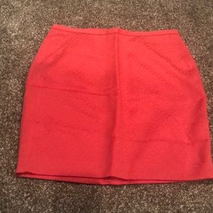 NWT The Limited Dark Coral Pencil Skirt